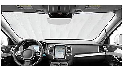 AutoHeatshield Sunshade for Ford Full-Size Transit Van w/Med or High Roof w/o Windshield-Mounted Sensor 2014 2015 2016 2017 2018 Custom Fit Windshield Sunshade