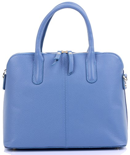 A Sacchi Textured Bowling Protective Made Handbag Hand Tote Blue Storage Includes Or Primo Bag Grab Denim Branded Italian Leather Style Shoulder Bag wpwaq