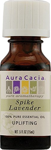Aura Cacia Lavender (Spike), Essential Oil, 0.5-Ounce ()