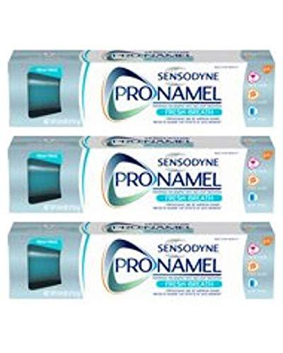 SENSODYNE PRONAMEL Fresh Wave Fluoride Toothpaste to Strengthen and Protect Enamel, 4 Ounces - 3 Pack (Best Toothpaste To Protect Enamel)