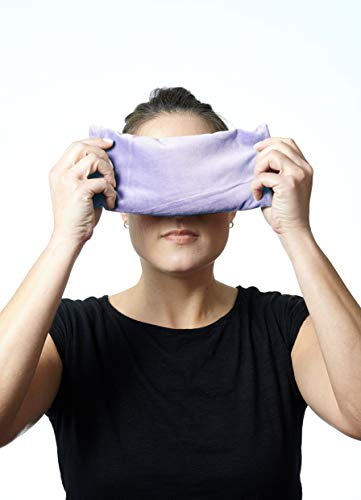 (DreamTime Inner Peace Eye Pillow, Lavender Velvet, Soothing Aromatherapy Stress and Headache Relief for Wellness and Relaxation, Pack of 1)