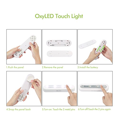 OxyLED Tap Closet Lights, One Touch Light, 4-led Touch Tap Light, Stick-on Anywhere Push Light, Cordless Touch Sensor LED Night Light, Battery Operated Stair Safe Lights, 180° Rotation, 3 Pack by OxyLED (Image #4)