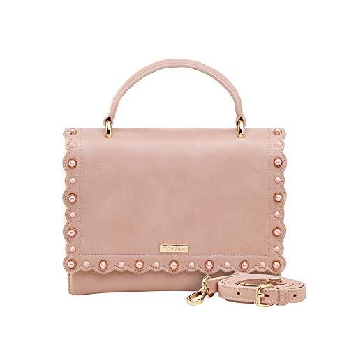 Bolsa Pequena De Mão Rosa Tachas Coloridas