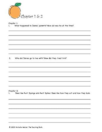 Counting Number worksheets james and the giant peach worksheets free : Amazon.com : James and the Giant Peach Novel Study Unit CD ...