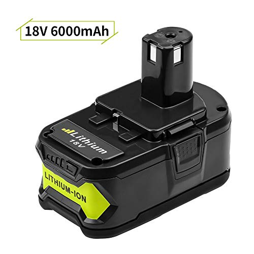 P102 for Ryobi Lithium 18v Battery 6.0Ah Replacement One Plus P103 P104 P107 P108 High Capacity Cordless Drill Batteries