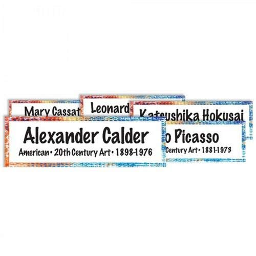 American Educational Products CP1888,''Artist Display Cards'' Set, Pack of 20 Sets