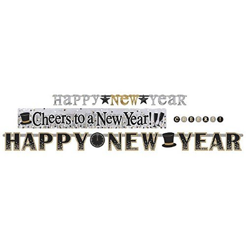 Amscan 4 in 1 Happy New Year Decoration Banner Set ()