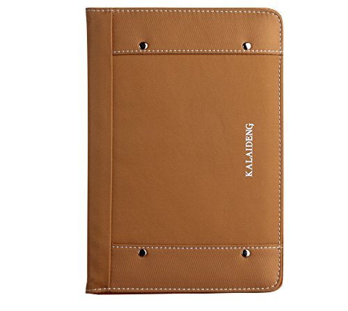 Raydes iPad Mini Case - KLD/Kalaideng the Me Series Case - Lightweight, Premium PU Leather, Folio Smart Stand Case Cover with Credit Card Holder and Grip - Gold Kalaideng Leather