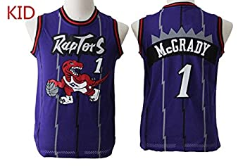 Image Unavailable. Image not available for. Colour  Toronto Raptors  1  Tracy McGrady Kids Basketball Jerseys Purple Retro M 5e34bf2e3