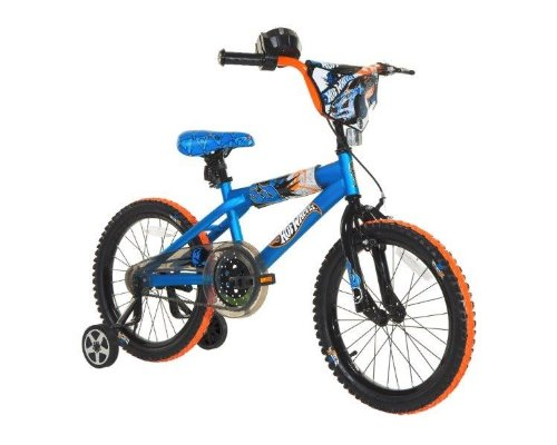 Dynacraft Boys Hot Wheels Bike, Blue/Orange/Black, 18-Inch by Dynacraft