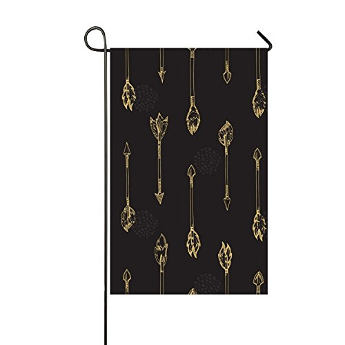 Gold Arrows Seasonal Garden Flag, Double-sided Flags for Out