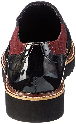 La Strada 909556, Zapatos de Cordones Derby para Mujer Negro