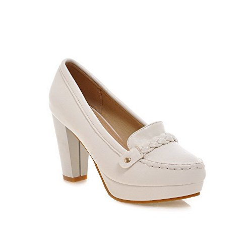 weipoot-womens-solid-pu-high-heels-round-closed-toe-pull-on-pumps-shoes-white-42
