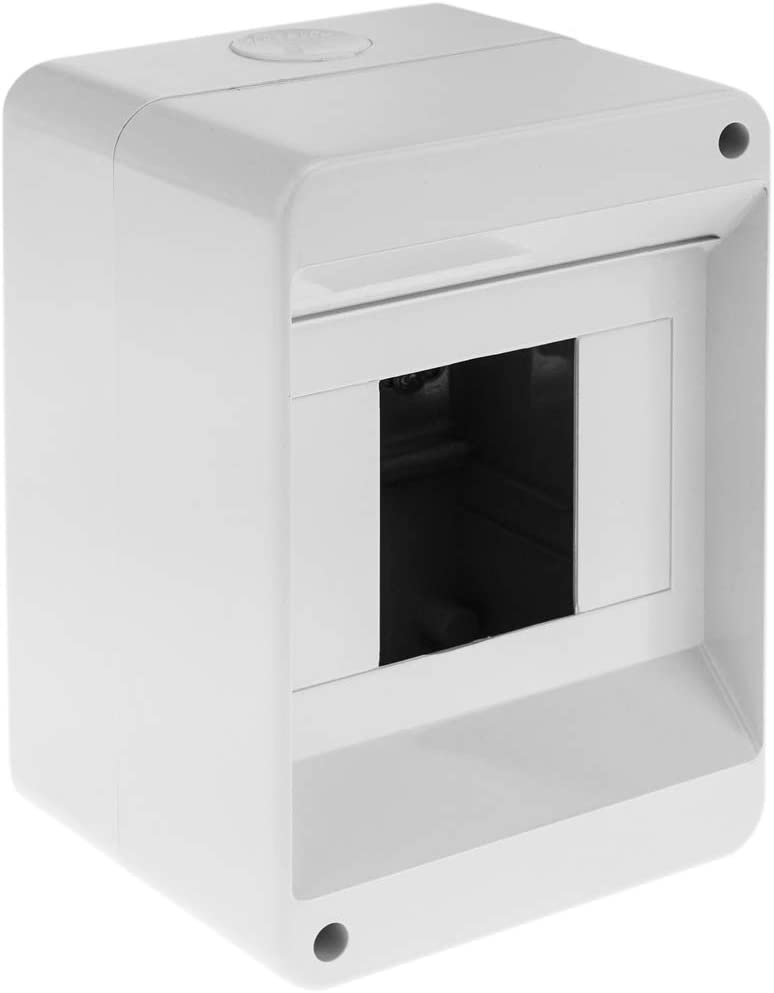 BeMatik - Caja de Superficie de automatismos eléctricos para 4 módulos de 18 mm de plástico ABS