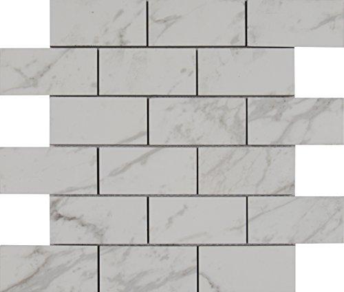 (MS International NPIECAR2X4P Mesh-Mounted Tile 12 x 12 in. x 10 mm Mosaic)