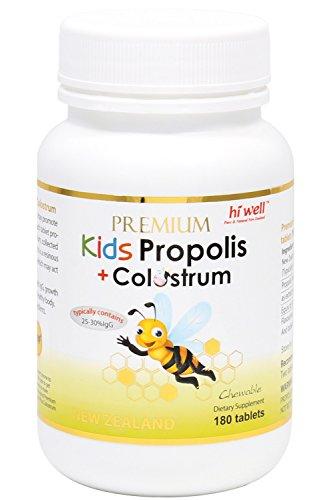Hi Well Kids Propolis Plus Colostrum 180Tablets (1 Bottle)