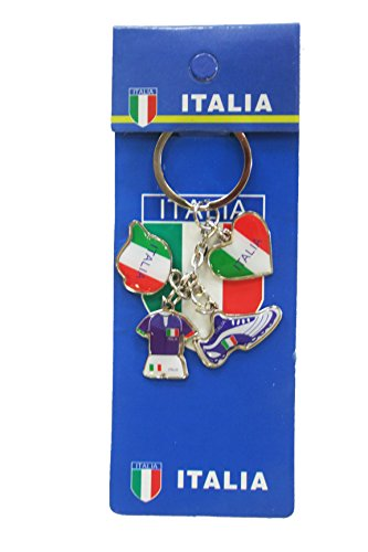 (Italia Italy 4 Charming Different Shape Design Metal Keychain .. New)