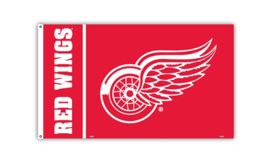 NHL Detroit Red Wings Flag with Grommetts (3 x 5-Feet)