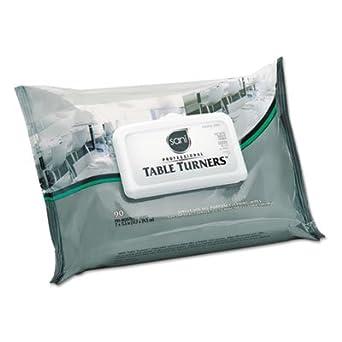 Mesa Turner toallitas húmedas, 7 x 11 1/2, blanco, 60 toallitas