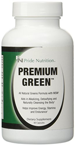 Best Green Food Supplement - Premium Green 60 Capsules- Helps Detox, Energy, Endurance, Lactic Acid and Ph Support - Ultimate Natural Green Super Food Capsule Supplement for Men and Women