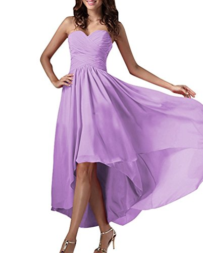 Terani Special Occasion Dress - H.S.D Women's Sweetheart Hi-Low Chiffon Special Occasion Dress Lavender