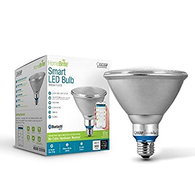 Feit Electric PAR38/LED/HBR 90W Equivalent (2700K) Dimmable Bluetooth Smart HomeBrite LED Flood Light Bulb, Soft White by Feit Electric