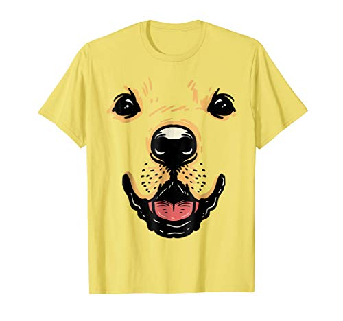 Dog Face Shirt Golden Retriever Labrador Halloween Costume