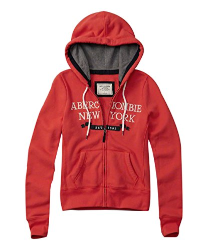 abercrombie-fitch-womens-logo-full-zip-hoodie-red-size-small