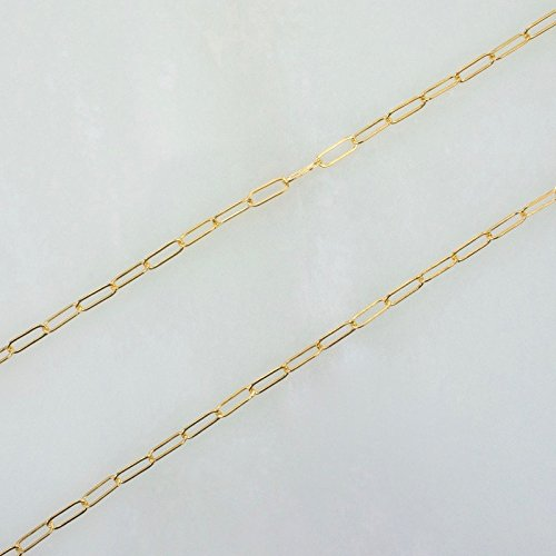 3 Feet 14k Gold Filled 2x5mm Drawn Cable Chain, Made in USA