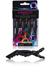 Framar Gator Grips Black Styling Hair Clips - Set of 4 Professional Hair Clips with Hair Styling and Sectioning - Wide Teeth & Durable for Hair Salon Quality Alligator Hair Clips - 4 x Hair Clip