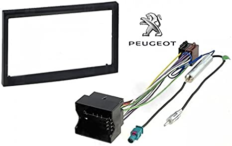KIT cuadro reductor marco 2 DIN PEUGEOT 207 / 307 cable ...