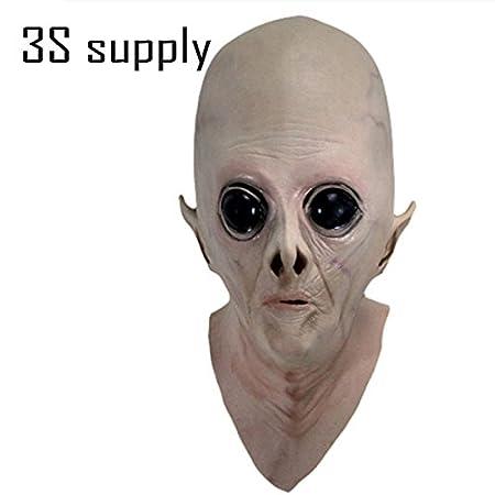 2175 newrealistic Creepy UFO Alien cabeza máscara de Halloween ...