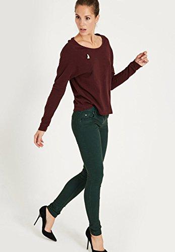 Para Liso Wqh0r7t Oscuro Khujo Skinny Pantalón Verde Mujer 78nqUw7S
