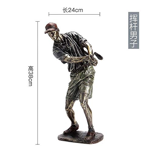 amazyn Study Room Decoration Home Wine Cabinet Decoration Golf Crafts Ornaments Gifts@Swing (Jade Golf Putter)
