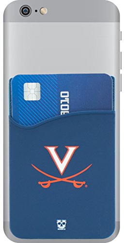 Virginia Cavaliers Adhesive Silicone Cell Phone Wallet/Card Holder for iPhone, Android, Samsung Galaxy, Most Smartphones