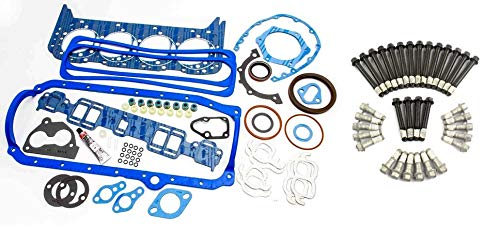 Fel Pro 260-1269 Overhaul Gasket Kit & Elgin Head Bolt set compatible with 1989-95 TBI SBC 5.7L Chevy - Engine Gasket Pan Oil 350