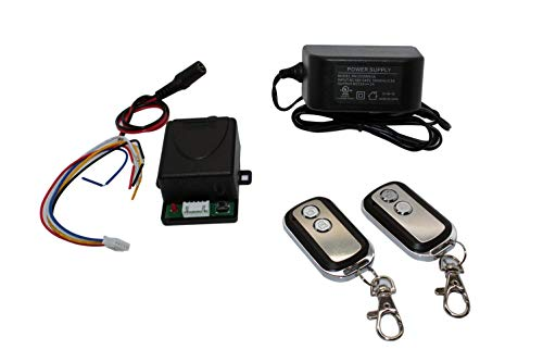 Access Control 2 Mini 315mhz Wireless Fixed Code Remotes with Two Channels RF Receiver Momentary Switch, One DC Power Plug Female Connector and One 12VDC 2Amps UL Certified Power Supply Kit by CCTVOnSales (Image #1)