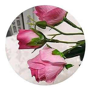 Artificial Flowers 4 Bundle Fake Flowers Silk Artificial Roses Bridal Wedding Bouquet for Home Garden Party Wedding Decoration 3