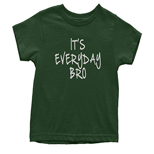 Stock Jersey Baseball (Youth (White Print) It's Everyday Bro T-Shirt Small Forest Green)
