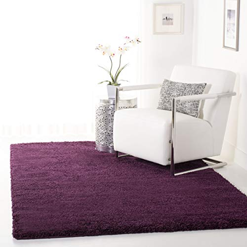 Safavieh California Premium Shag Collection SG151-7373 Purple Area Rug (5'3