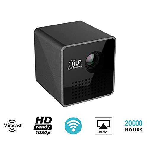 GUORZOM Micro Digital LED Video Projector P1 Mini Portable 30LM HD HDMI Projector Home Theater WIFI Wireless Mobile DLP Projector Proyector Beamer Black