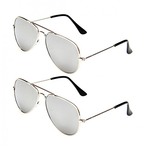 WODISON Classic Kids Aviator Sunglasses Bulk Reflective Metal Frame Children Eyeglass 2 -
