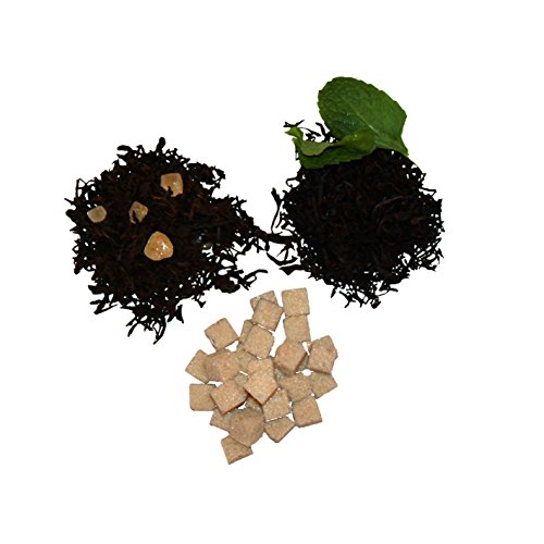Nassim Tea Flavored Tea Combination Set - Persian Spice Tea (2oz) + Mint Tea (2oz) + Cinnamon Sugar Cubes (5oz)