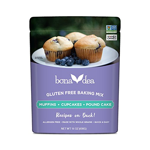 Organic Muffin Mix (Bona Dea Ancient Grains Baking Mix, Muffins  ~  Cupcakes  ~  Pound Cake, 14 oz, (Pack of 2))