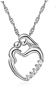 Mom's Gifts,Heart Shape Pendant Necklace, Fashion Jewelry for Women, Anniversary Present for Wife, Aunt, N