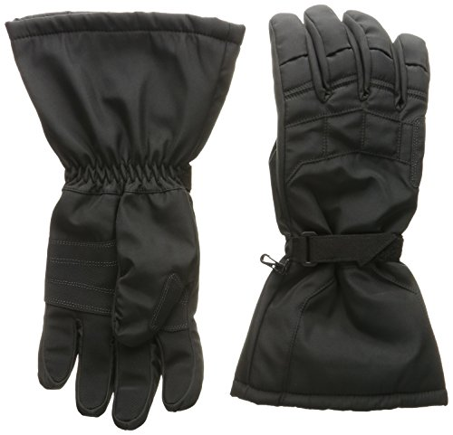 Joe Rocket Sub-Zero Men's Cold Weather Motorcycle Riding Gloves (Black/Black, Large)