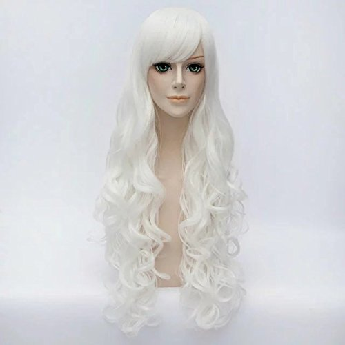 Long Curly Hair 80cm Women Girls Daily Basic Style Heat R...