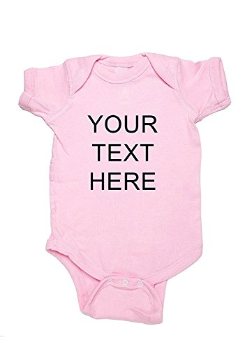 Eric Hug Comfortable Custom Printed Personalized Baby Girl Onesie Pink12-18 Months Fashion ()