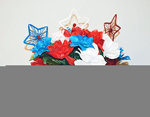 Patriotic Centerpiece, 4th of July Table Decoration Floral Arrangement, Patriotic Floral Arrangement, Independence Day, Ready to - Independence Center The