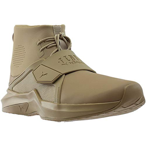 PUMA Mens Fenty by Rihanna The Trainer High Casual Sneakers, Beige, 10